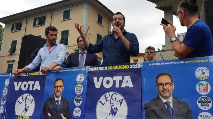 Matteo Salvini a Massa (foto Paola Nizza)
