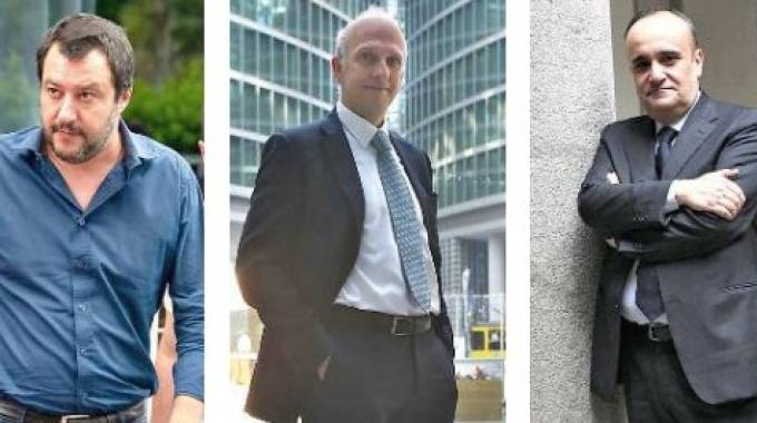 Matteo Salvini, Marco Bussetti e Alberto Bonisoli