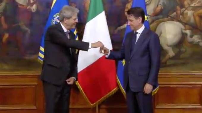 Paolo Gentiloni e Giuseppe Conte (Dire)