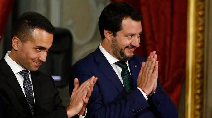 Luigi Di Maio e Matteo Salvini al giuramento al Quirinale (LaPresse)