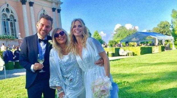 Daniele Bossari, Mara Venier e Filippa Lagerback (Instagram)