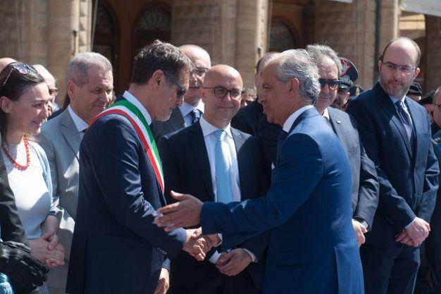 Il sindaco Merola e il prefetto Piantedosi (FotoSchicchi)