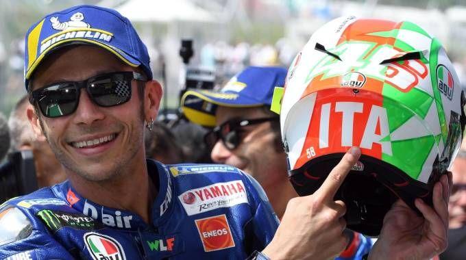 Valentino Rossi in pole al Mugello (Ansa)