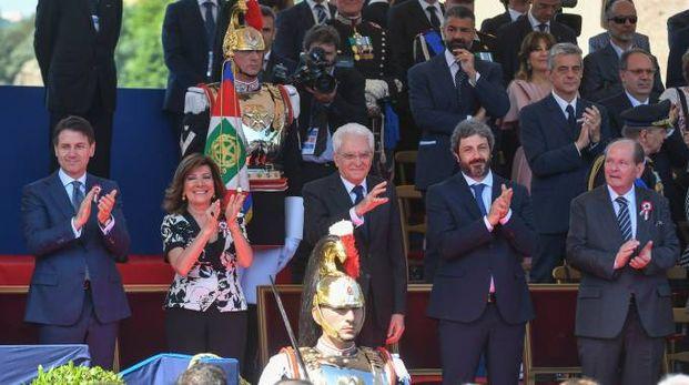Giuseppe Conte, Elisabetta Alberti Casellati, Sergio Mattarella, Roberto Fico (ImagoE)