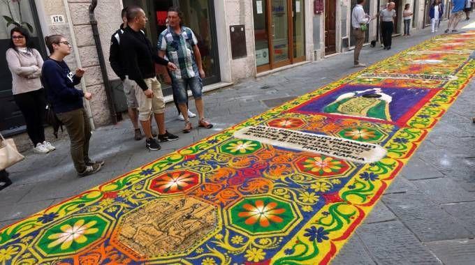 Il tappeto firmato Palinsesto (foto Aldo Umicini)