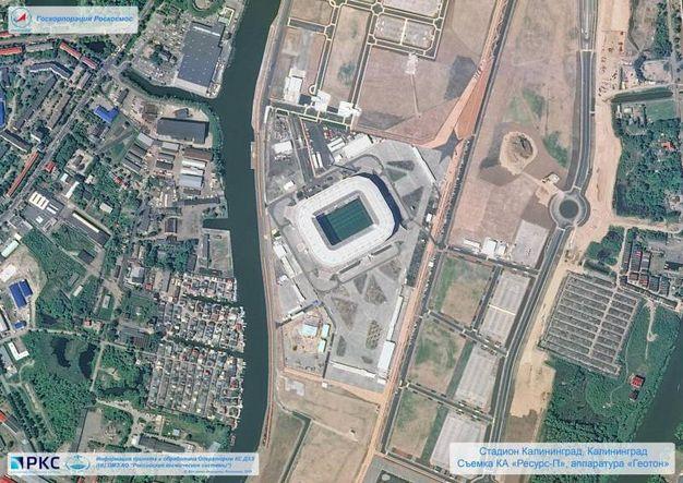 "Lo stadio di Kaliningrad ""Arena Baltika"" (Ansa)"