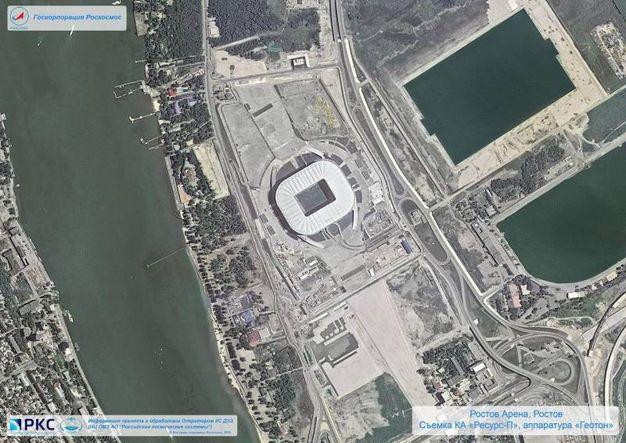 Lo stadio di Rostov, la Rostov Arena (Ansa)
