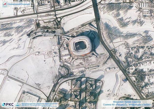 Lo stadio di Saransk, la Mordovia Arena (Ansa)
