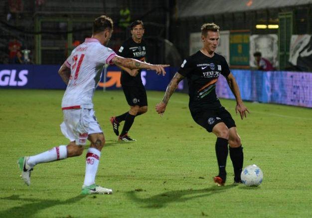 Venezia-Perugia, un momento del match