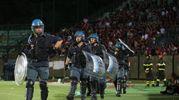 La polizia in campo
