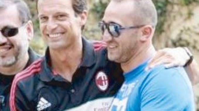 Luca Lucci con Massimiliano Allegri, del tutto estraneo all'inchiesta