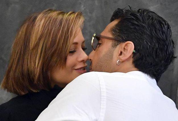 Fabrizio Corona con la compagna Silvia Provvedi (Ansa)