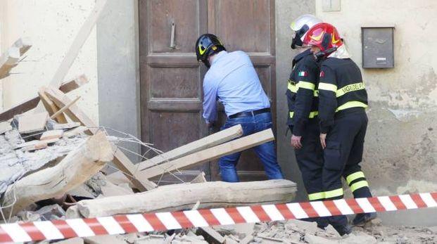 Il crollo di Carmignano (Foto Attalmi)