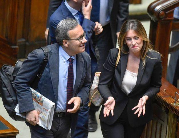 Maria Elena Boschi con Valter Verini (Imagoeconomica)