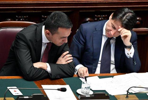 Il premier Conte e il vicepremier Di Maio