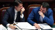 Conte e Salvini (Ansa)