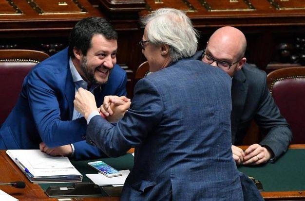 Sgarbi con Salvini (Ansa)