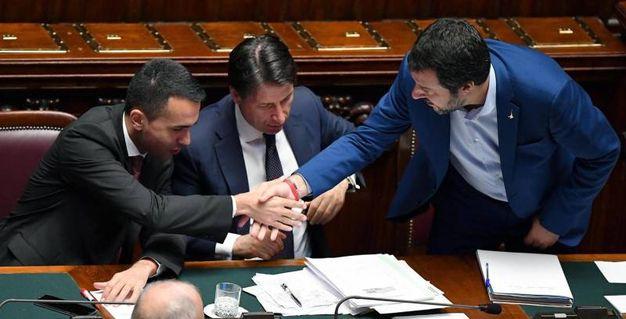 Di Maio, Conte, Salvini (Ansa)