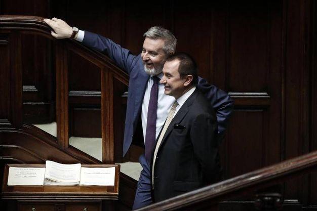 Lorenzo Guerini con Ettore Rosato, Pd  (Ansa)