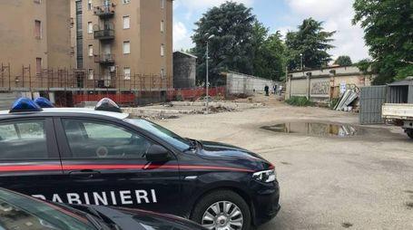 I carabinieri al cantiere