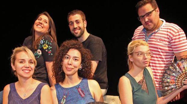 Alcuni dei dieci partecipanti alla masterclass in corso al teatro comunale Stignani