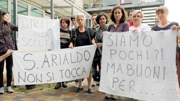 La protesta delle famiglie