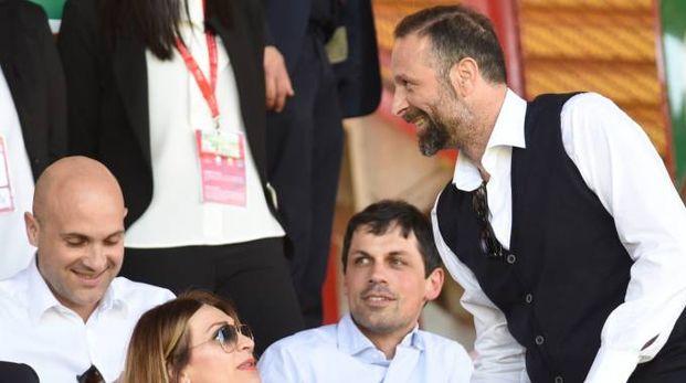 L'assessore Prisco, il sindaco Romizi e il presidente Santopadre