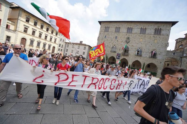"""La manifestazione del """"Petrocchi"""" a Pistoia (foto Gabriele Acerboni/FotoCastellani)"""