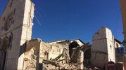 San Benedetto di Norcia dopo il crollo