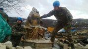 Sant'Antonio, recupero della Madonna dorata