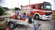 Vigili del fuoco e tecnici al lavoro (foto Businesspress)