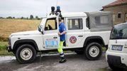 Intervento di squadre di volontari della protezione civile regionale e locale, unitamente al personale dei Vigili del Fuoco e del Consorzio di Bonifica (foto Businesspress)