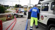 La protezione civile (foto Businesspress)