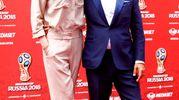 Ilary Blasi e Nicola Savino, photocall di presentazione, conferenza stampa Mediaset Mondiali Russia 2018 a Cologno Monzese (LaPresse)
