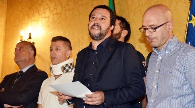 Salvini a Como per gli autisti picchiati (Cusa)