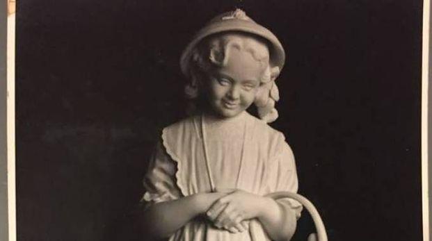 La statua trafugata della piccola Luigina