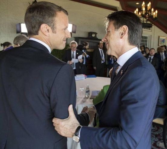 Conte con Macron  (Ansa)