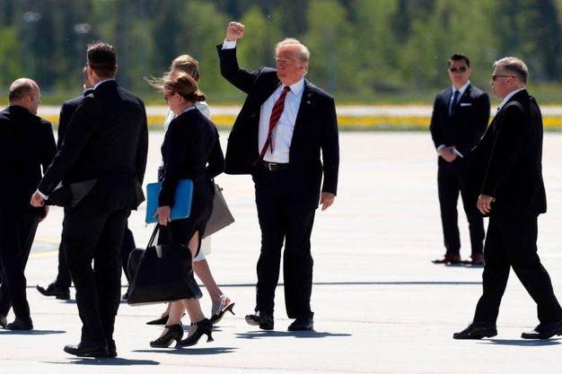 L'arrivo di Trump (LaPresse)