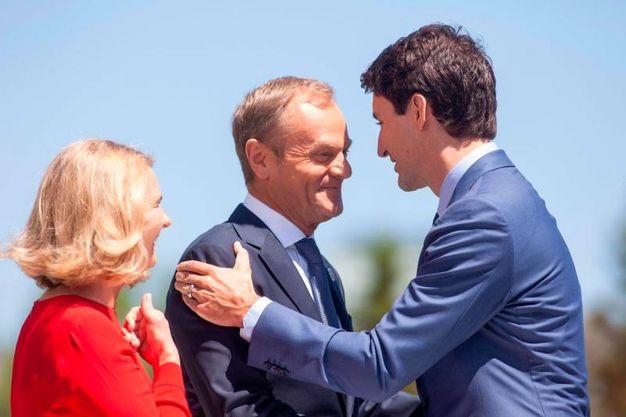 Donald Tusk, presidente del Consiglio europeo con la moglie Malgorzata (LaPresse)