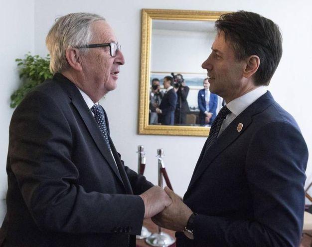 Con il Presidente della Commissione Ue Jean Claude Juncker (Ansa)