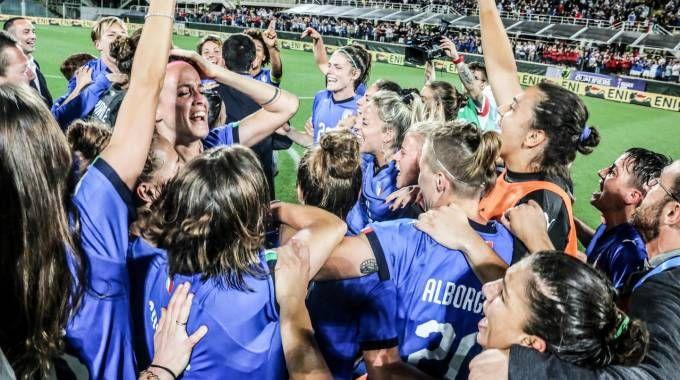 Calcio femminile, l'Italia è ai mondiali. Portogallo ko a Firenze (Foto Germogli)