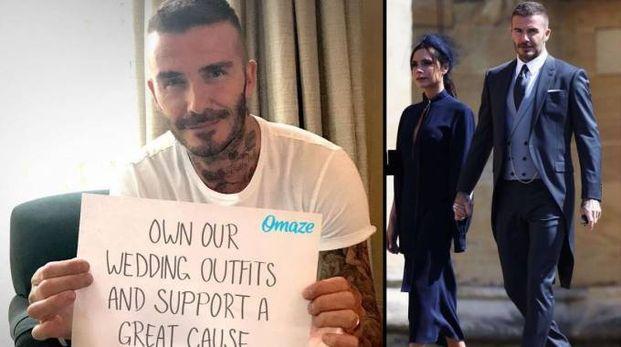 David e Victoria Beckham devolvono i loro abiti del Royal wedding in beneficenza
