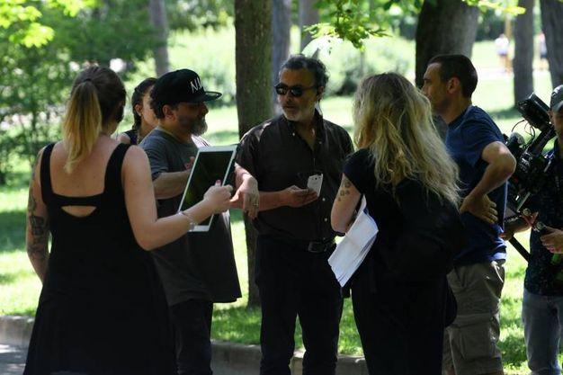 Le riprese della puntata (foto Schicchi)