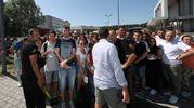 La ressa fuori dall'Adriatic Arena (Fotoprint)