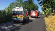 I mezzi di soccorso sul posto (foto Zeppilli)