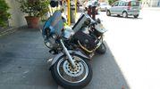 La moto dopo l'incidente (foto Zeppilli)