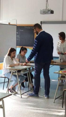 Lorenzo Vesperini al seggio (foto Iezzi)