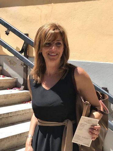 Alessandra Manigrasso al voto (foto Iezzi)