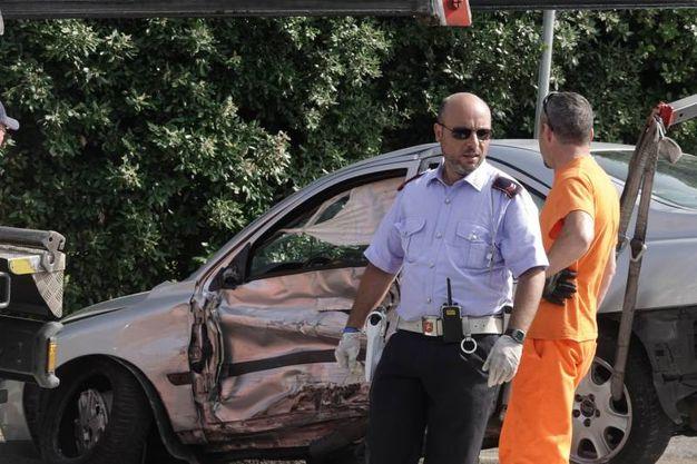 La scena del post inseguimento in via Canova (Gianluca Moggi / New Press Photo)