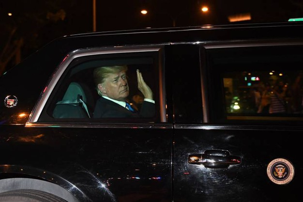 Trump diretto in albergo (Ansa Ap)